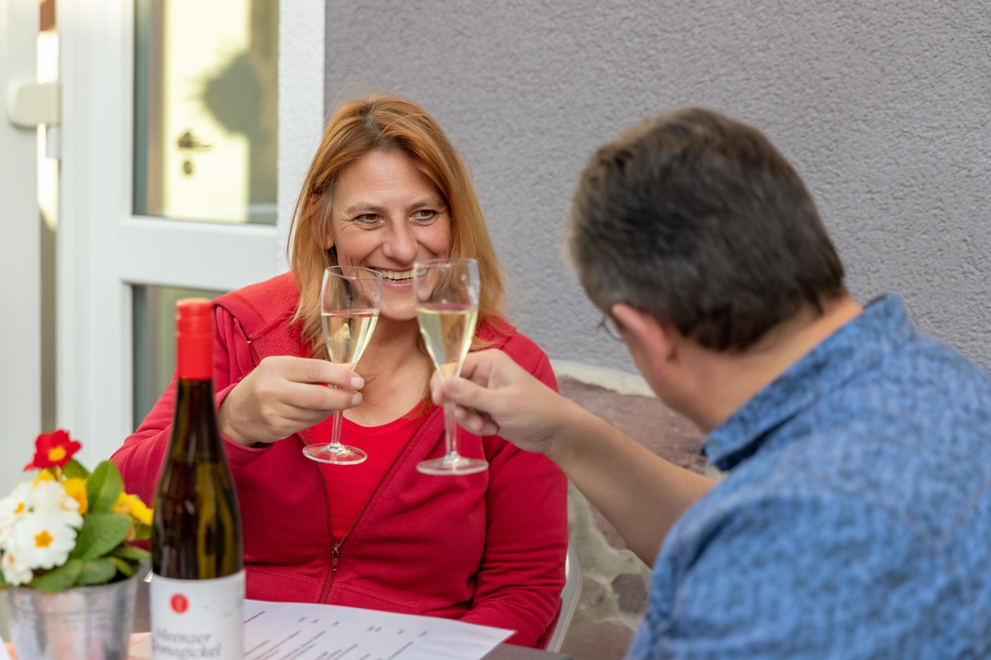 Sektfrühstück, Weingut, Spaß, Laurentiushof, Qualitätswein, Straußwirtschaft,